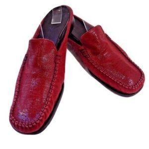 Sesto Meucci Red Leather Mules Size 7